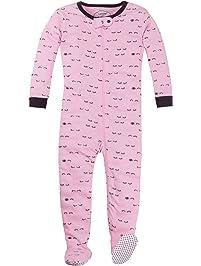 035e49a265 Lamaze Baby Girls Organic Longsleeve Stretchie Pajamas