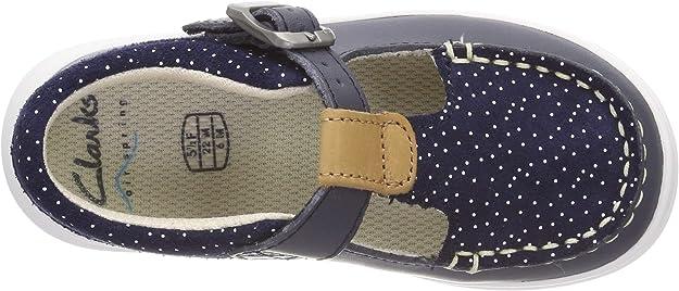 CLARKS Cloud Rosa Girls Leather T Bar Summer Shoe