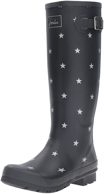 Joules Women's Welly Print Rain Boot B01F00DH5Y 7 B(M) US Black Star