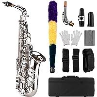 Sax Eb ser ammoon saxofón Alto y plano latón recortado sistema de conjuntos de plástico con Superficie Squisita Guante…