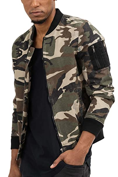 trueprodigy Casual Hombre marca Chaqueta Bombar camuflaje ropa retro vintage rock vestir moda Militar deportivo slim