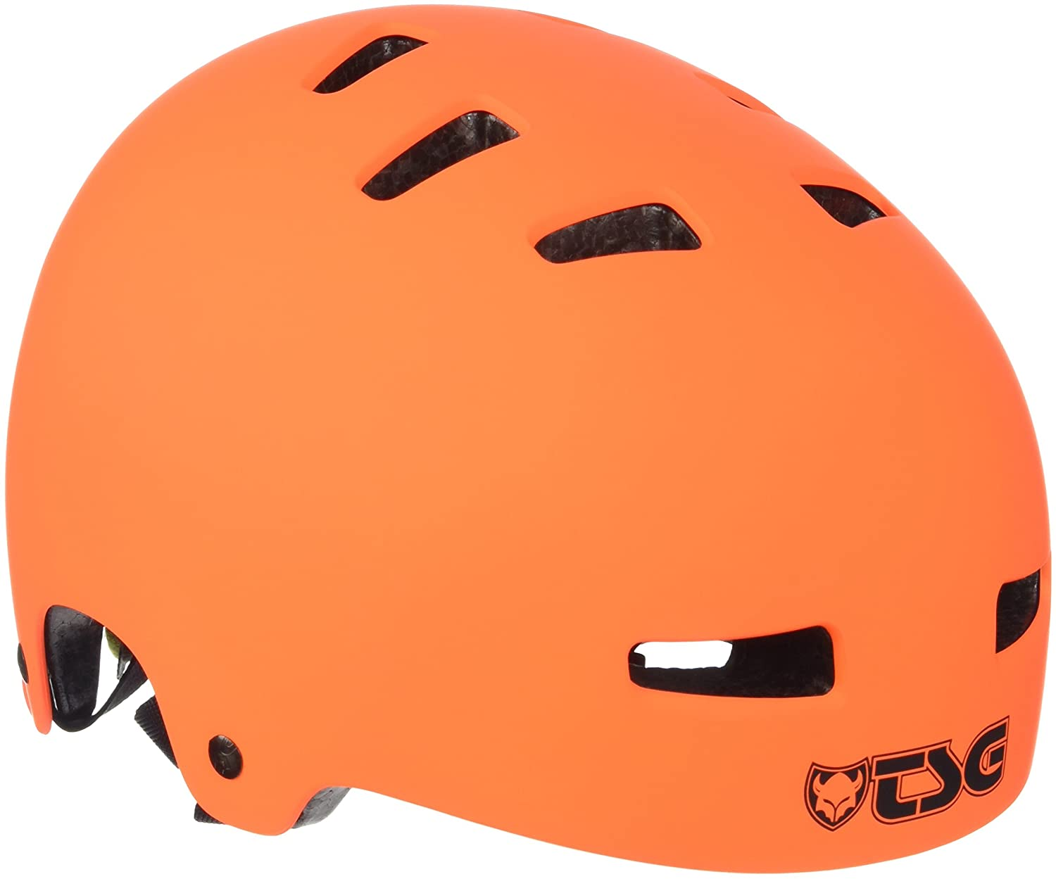 TSG Evolution Solid Color Casco de Skateboarding, Unisex Adulto, Naranja (Flat Orange), L/XL (57-59 cm) 75046