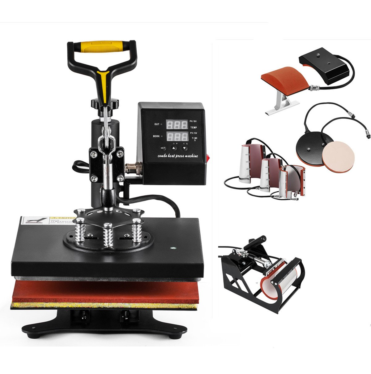 SmarketBuy 8 in 1 Digital Multifunctional Heat Press Machine 12