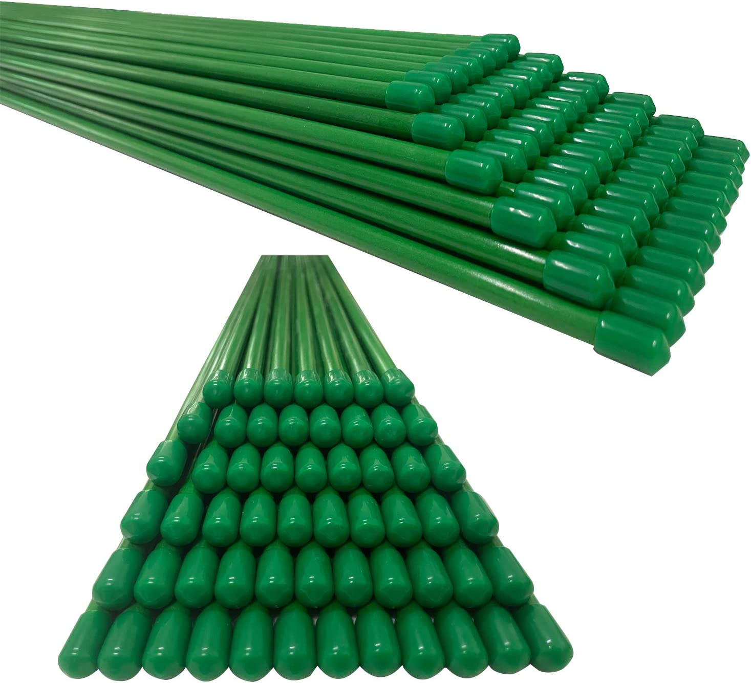 YOYORUN Garden Stakes 5FT,Plant Stakes,Tomato Stakes,Fiberglass Material,Strong and Durable,Will Never Rust,Pack of 20