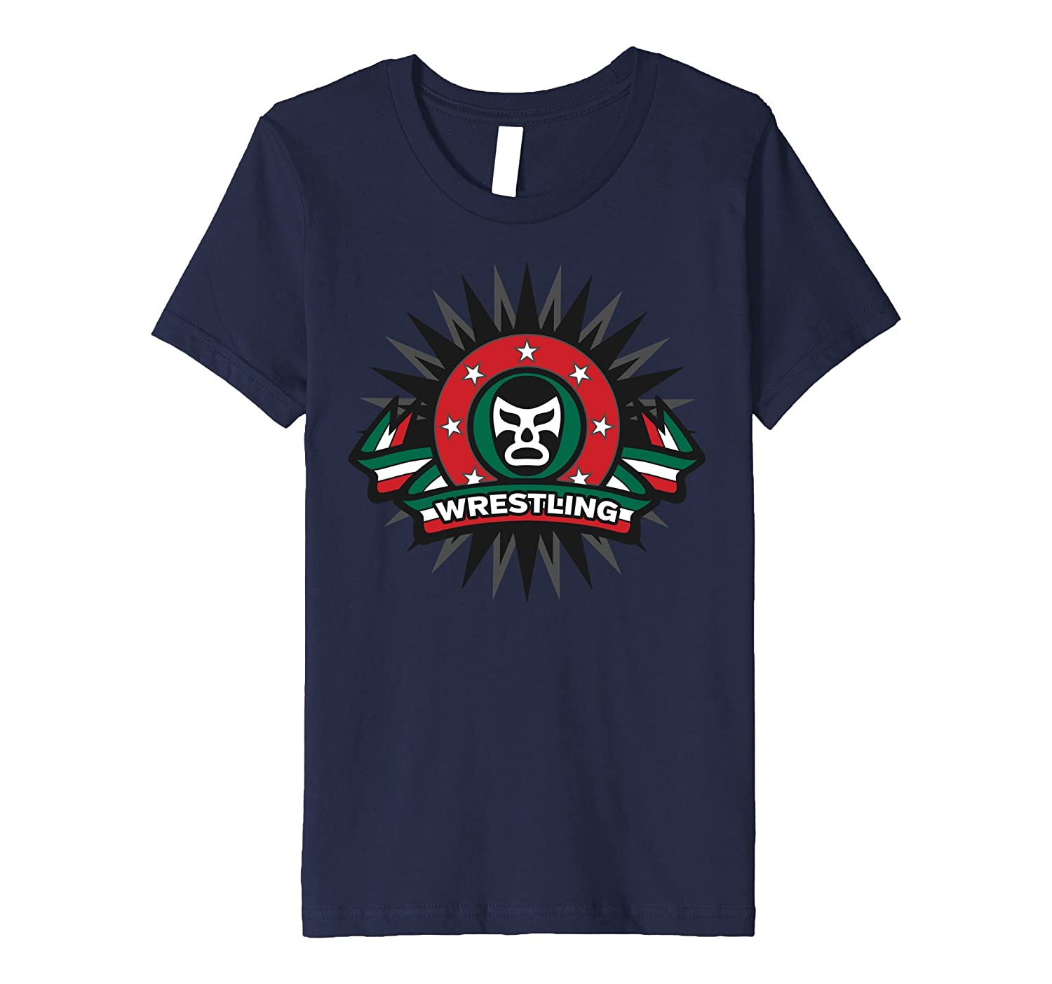 Masked Wrestling Mexico Flag Colors Shirt - Men Women Youth