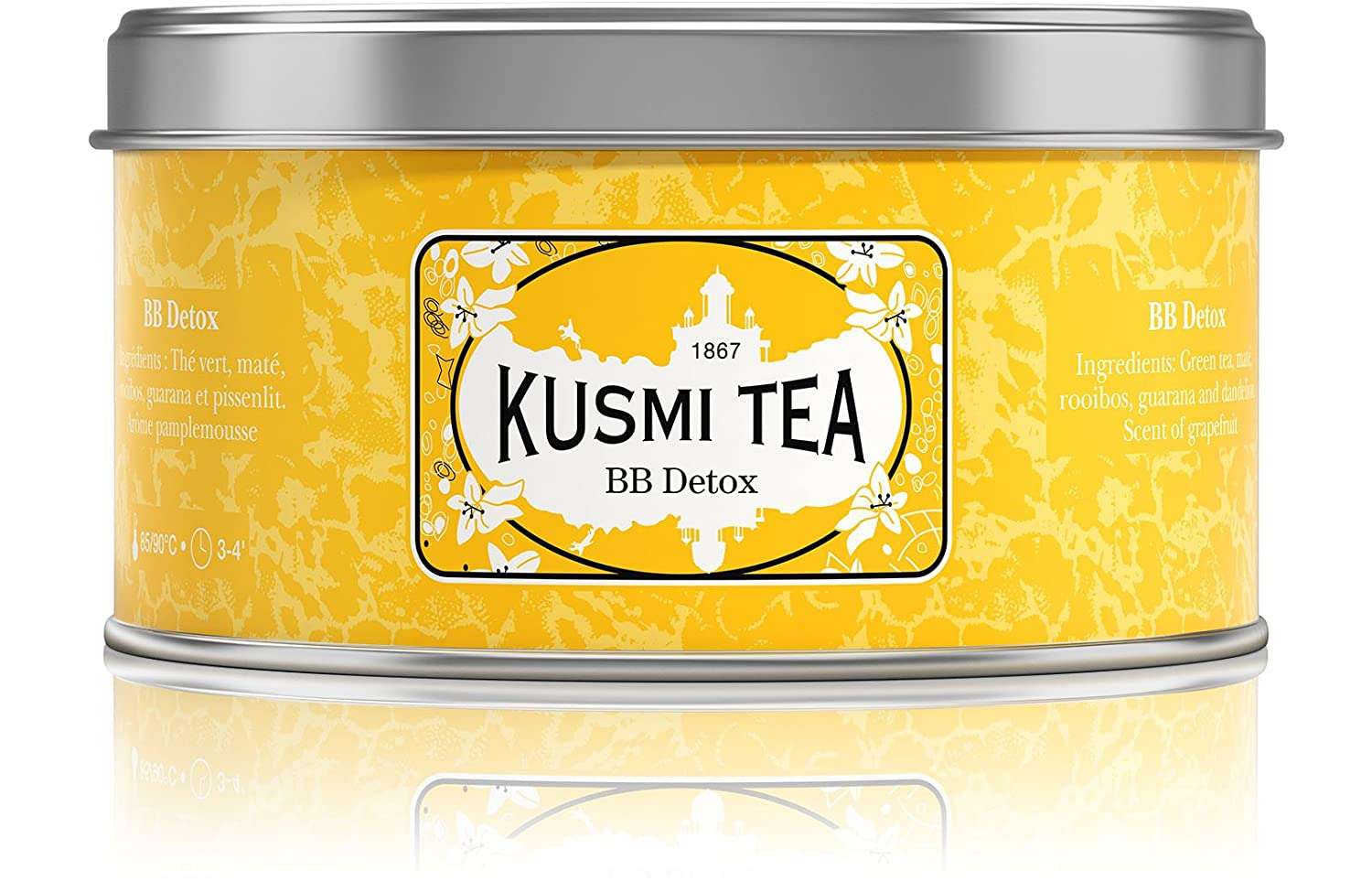 Kusmi Tea Paris - Premium Luxury Teas - BB DETOX (Yellow tin) - 125gr Tin BBDE125