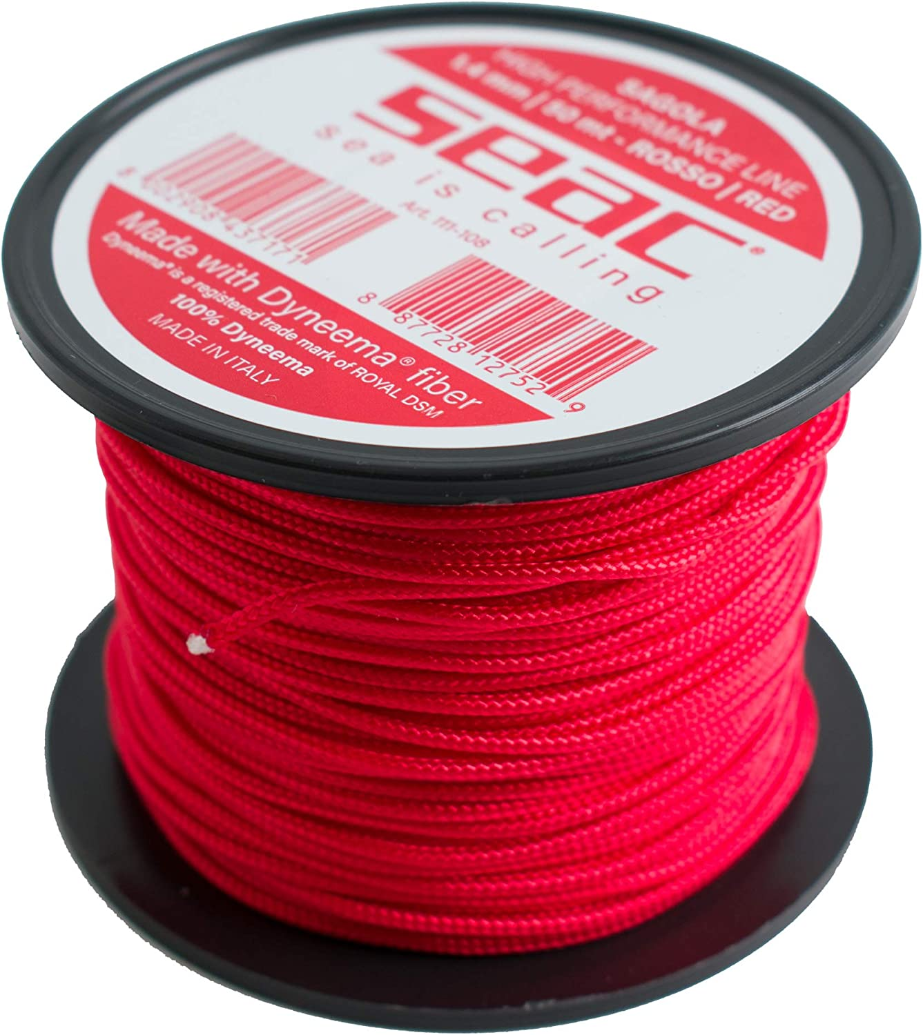 SEAC Unisexs Dyneema for Spearfishing 50 mt /Ø1.4mm Red