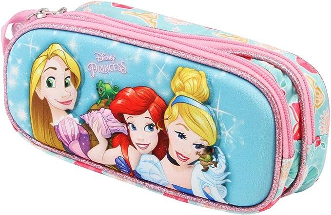 Karactermania Princesas Disney Beautiful - Estuche Portatodo 3D Doble, Color Multicolor: Amazon.es: Equipaje