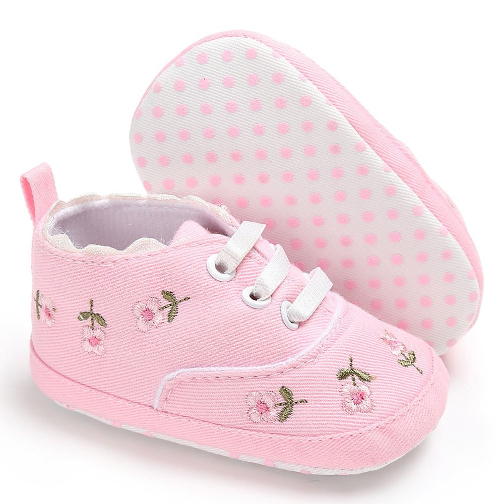 Independent Baby Boys Girls Shoes First Walking Sequined Ribbon Cotton Fabric Shoes Elastic Band Big Polka Dot Printing Walking Shoes Mother & Kids First Walkers