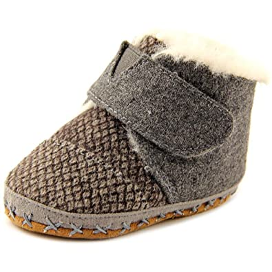 TOMS Unisex Cuna Crib Shoe Sneakers (Infant), Grey Felt Tweed, 3 M