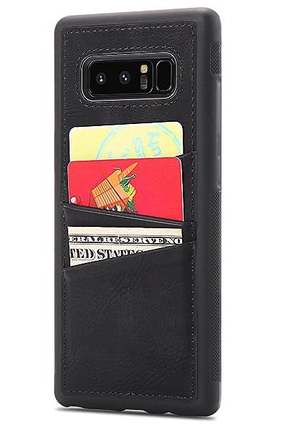 Amazon.com: Funda de piel para Galaxy Note 8 (incluye 3 ...