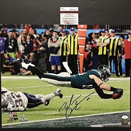 bb9e1c61999 Image Unavailable. Image not available for. Color: Autographed/Signed Zach  Ertz Philadelphia Eagles Game Winning TD Super Bowl LII ...