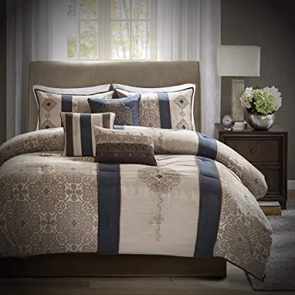 Amazon.com: Luxury Comforter Set King - 7 Piece - Best Bed Set - All ...