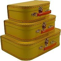 Cargo Vintage Travelers Mini Suitcases, Set of 3, Banana