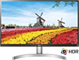 LG 27UK600 27 inch 4K UHD HDR 10 IPS Monitor (3840 x 2160, 2x HDMI, DisplayPort, 350 cd/m2, 5ms, AMD Freesync) - Silver/Black/White