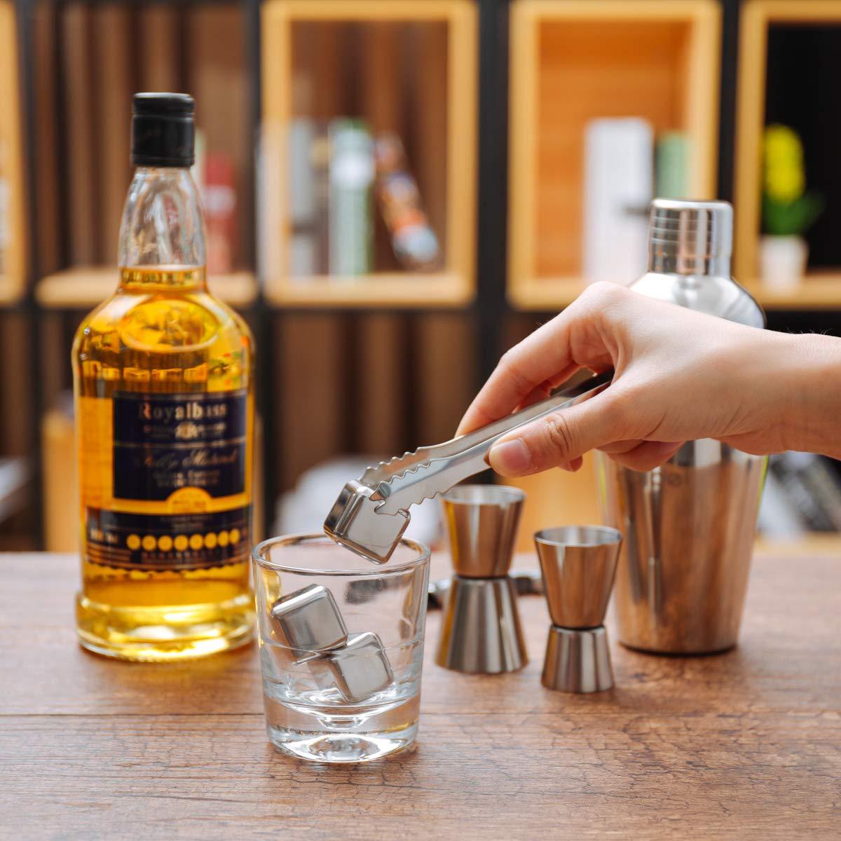 Cadeau de Noel pour Femme Haipei Cocktail Set avec Shaker 22 Pi/èces en Acier Inoxidable Cocktail de Barman Kit Shaker Cocktails Professionnel avec Accessoires pour Homme ou pour Couple
