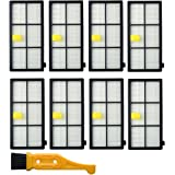 8pcs HEPA Filters for Irobot Roomba 870 860 880 960 980 Replacement Parts Accessories 800 900 Series Vacuum Cleaner and Free Cleaning Brush (8)