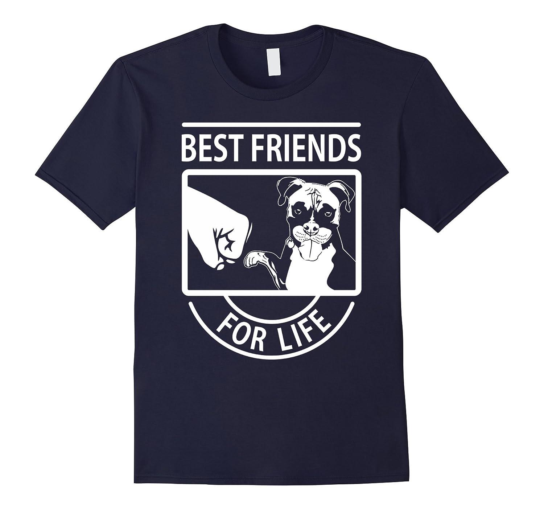 Boxer Dog Best Friends For Life Tshirt-Art