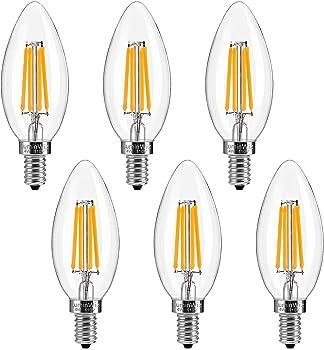 6-Pk. LuminWiz LED 40W Equivalent Candelabra Bulb