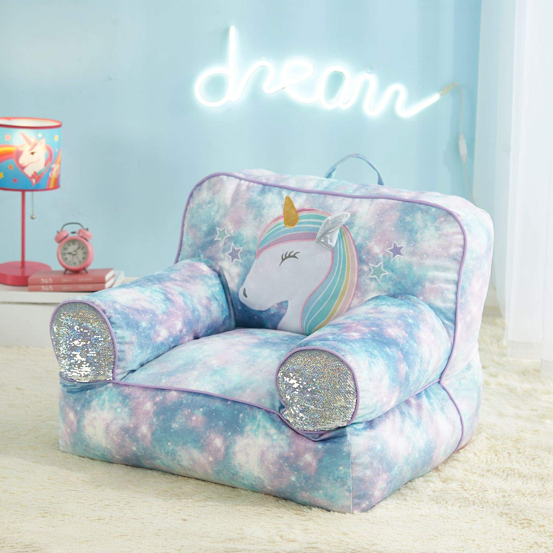 Enjoyable Amazon Com American Kids Unicorn Bean Bag Spacey Blue Gamerscity Chair Design For Home Gamerscityorg