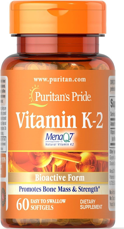 Vitamina K-2 60 perlas 50 mcg K2 MenaQ7. Puritans Pride 1 und ...