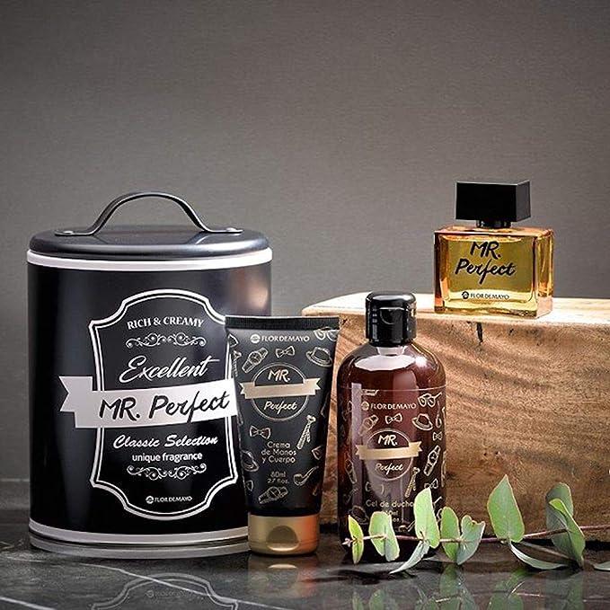 Set de Regalo para Hombre, Colonia 35 ml, Gel de Ducha 250 ml y Crema Hidratante 80 ml, Mr. Perfect: Amazon.es: Belleza