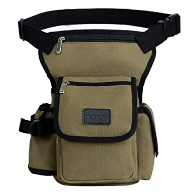 c9182e69008 Eshow Men s Drop Leg Pouch Tools Bags Tactical Leg Bag Purse Fanny Pack  Thigh Bags Bike