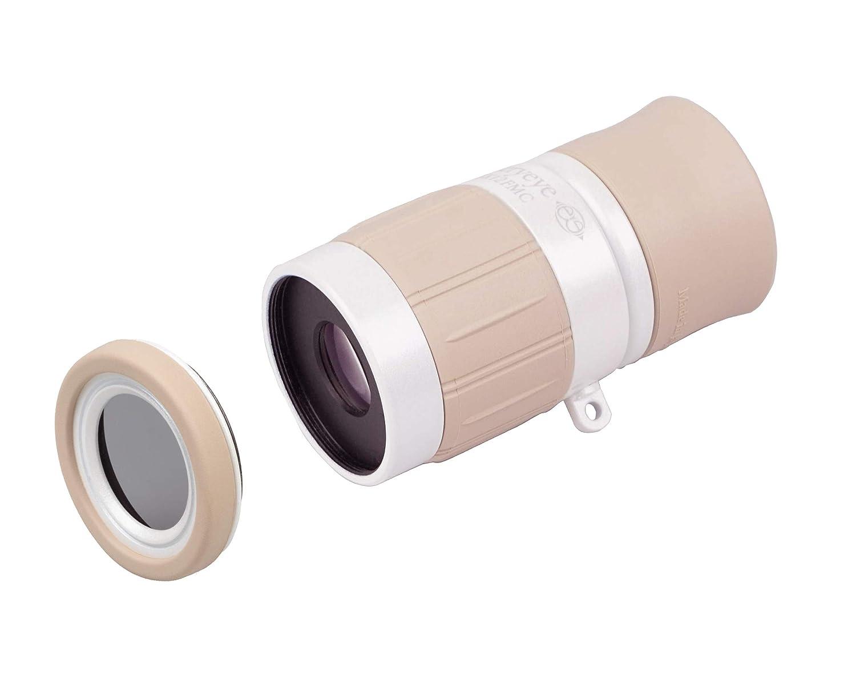 Kenko 単眼鏡 ギャラリーEYE 4倍 12mm口径 + 専用反射防止フィルターセット 日本製 ホワイト 倍率:4倍