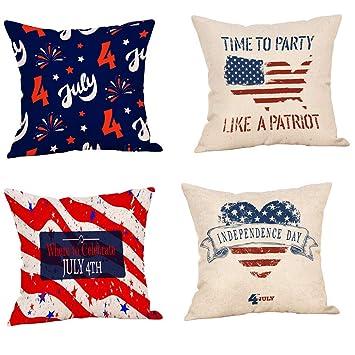 Amazon.com: Hattfart - 4 fundas de almohada decorativas para ...