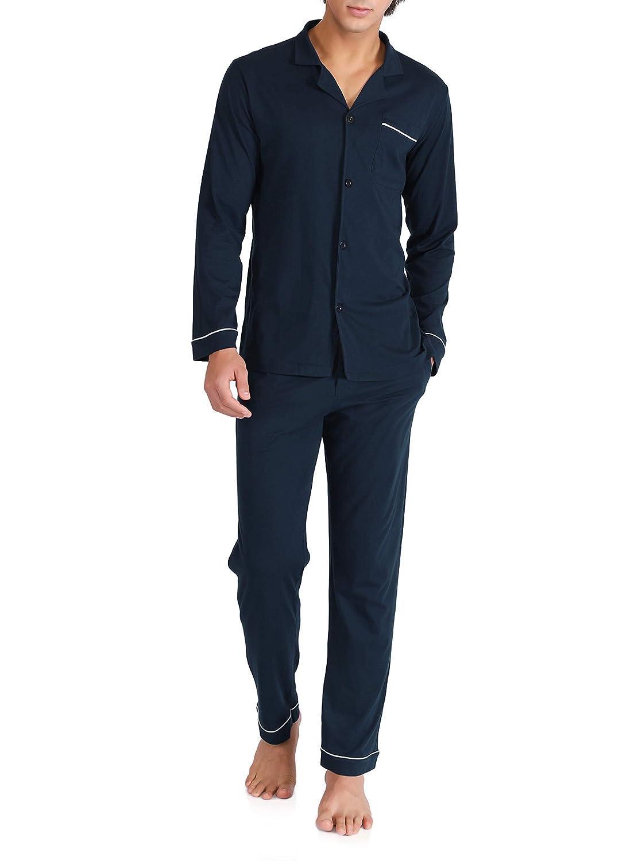 David Archy Men's 100% Cotton Long Button-Down Sleepwear Pajama Set CN-Smashing MDAJJ07-1