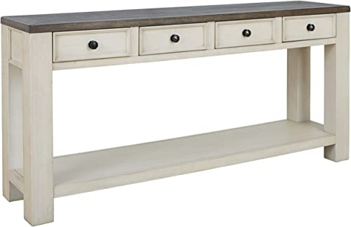 Signature Design by Ashley – Bolanburg Console Table, Brown White