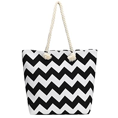 Bagerly Womens Lightweight Casual Canvas Shoulder Tote Beach Bag ...