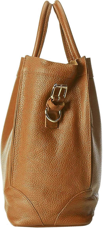 Roberta Rossi Sac à main sac à provisions doux casual fashion femme Tote artisan mode cuir véritable Made Italy 37x30x15 RR80ST029CGNAT_P Tan
