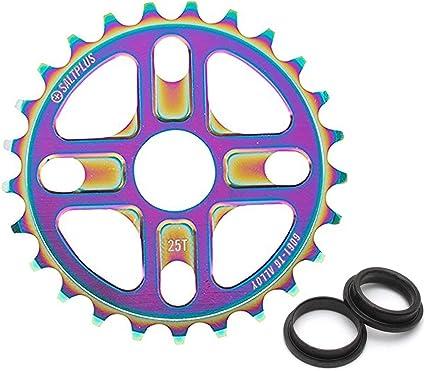 Salt Plus Manta Bolt Drive Bike Sprocket 28t Oilslick Includes Adaptors 19 and