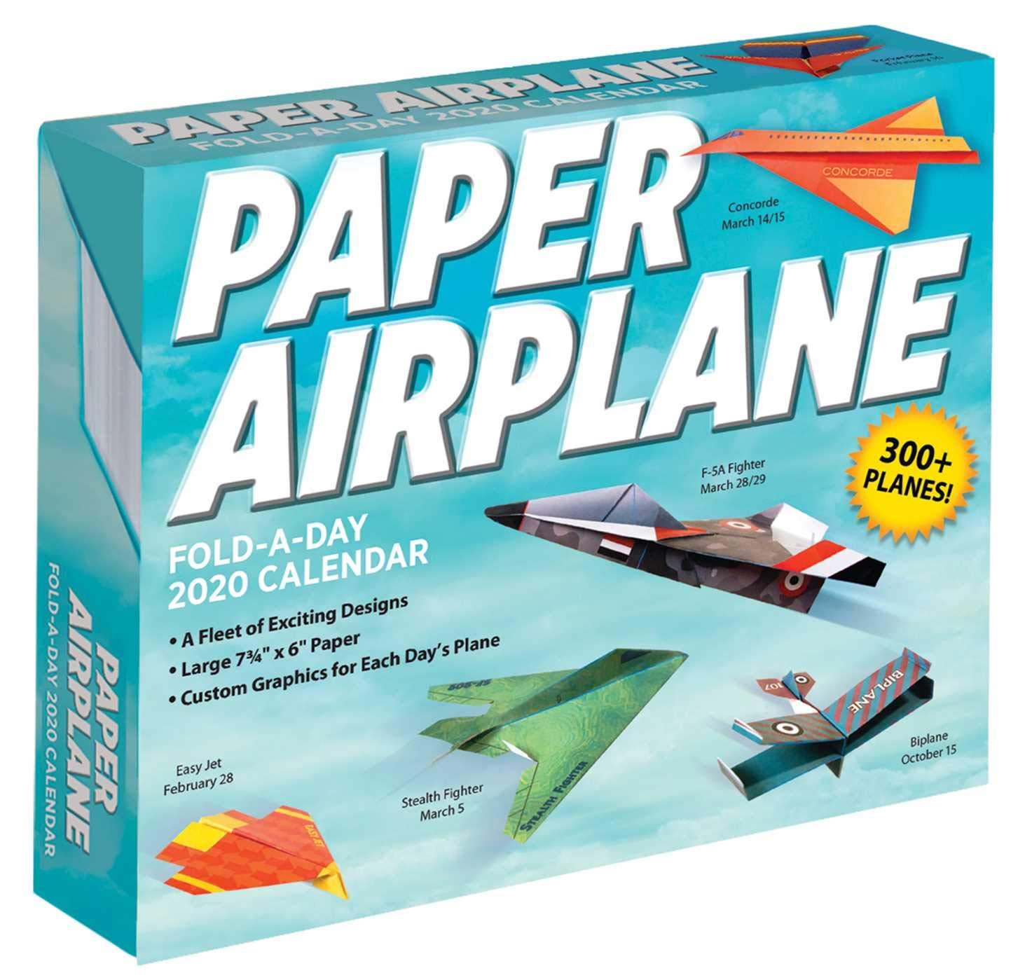 Open February 2020 Calendar Green Heading Paper Airplane Fold a Day 2020 Calendar: Kyong Lee, David Mitchell