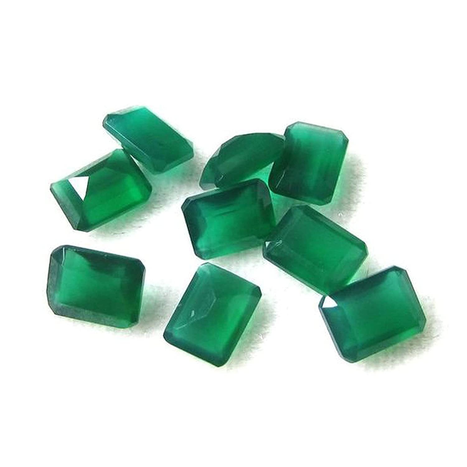 Neerupam collection natural Green Onyx AAA quality 12X10 mm Octagon shape loose gemstone, Natural Green Onyx loose gemstone for jewelry making