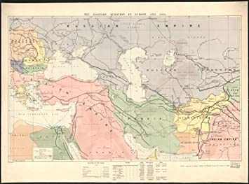 Amazon vintage 1940 map of bartholomews general map of asia vintage 1940 map of bartholomews general map of asia relief shown by spot heights gumiabroncs Images