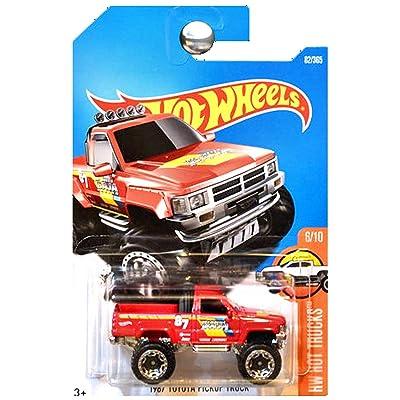 Hot Wheels 2020 HW Hot Trucks 1987 Toyota Pickup Truck 82/365, Red: Toys & Games