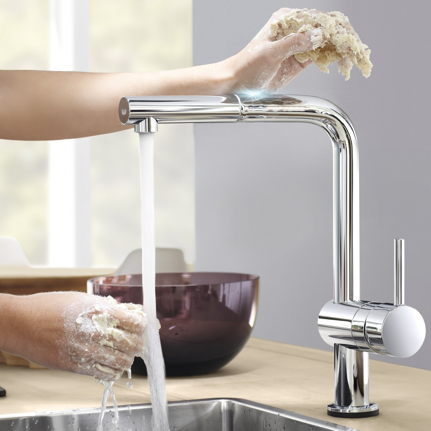 GROHE 31360000 Minta Touch Electronic Sink with High Spray External ...