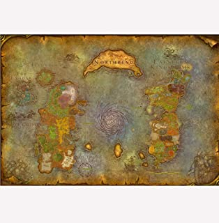 Amazon cgc huge poster world of warcraft world map pc fangeplustm map of wow world of warcraft old style antique vintage poster bar gumiabroncs Images