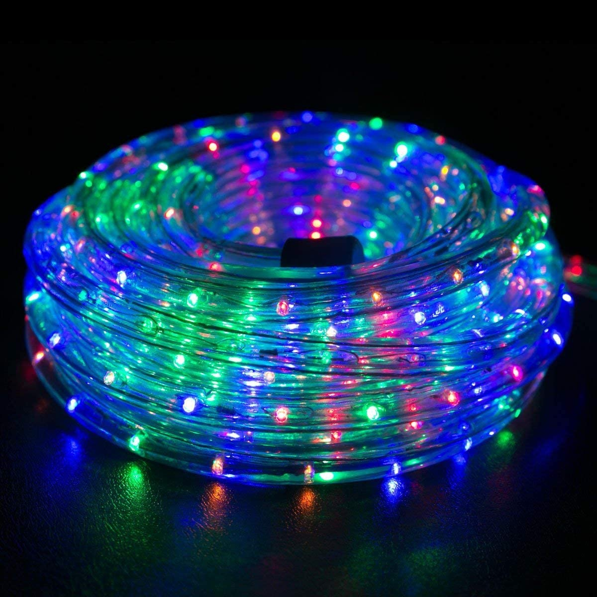 Amazon Com Wyzworks 300 Feet Multi Rgb Led Rope Lights Flexible 2 Wire Accent Holiday Christmas Party Decoration Lighting Ul Certified Garden Outdoor