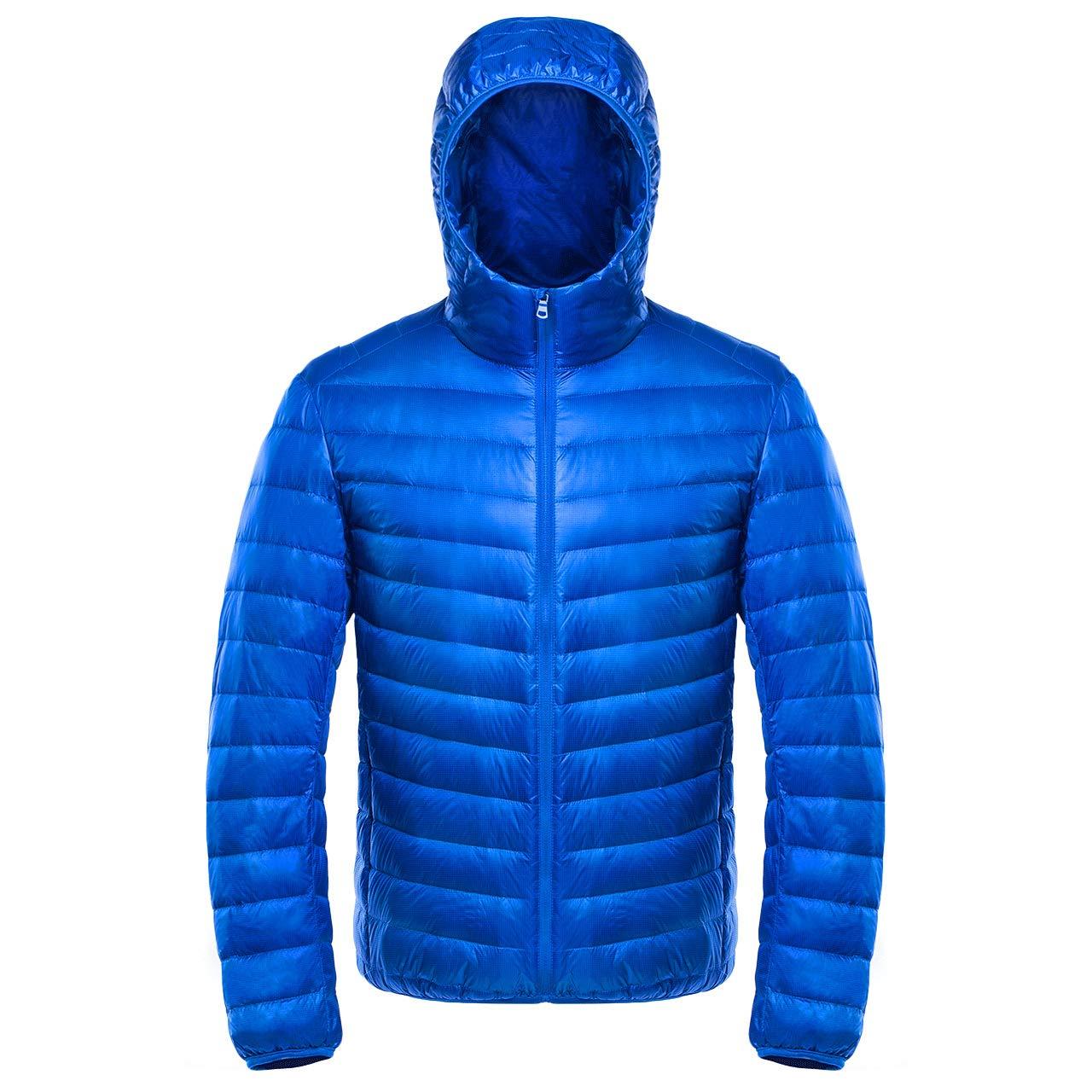 bleu XXL Court Ultra Léger Vestes Décontractées Décontractée Chaud Manteau avec Capuche VêteHommests D'extérieur pour Hommes
