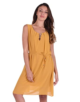 b1e5bfab43103 Miss Coquines - Robe Fluide - Femme - Robes - tu - moutard  Amazon ...