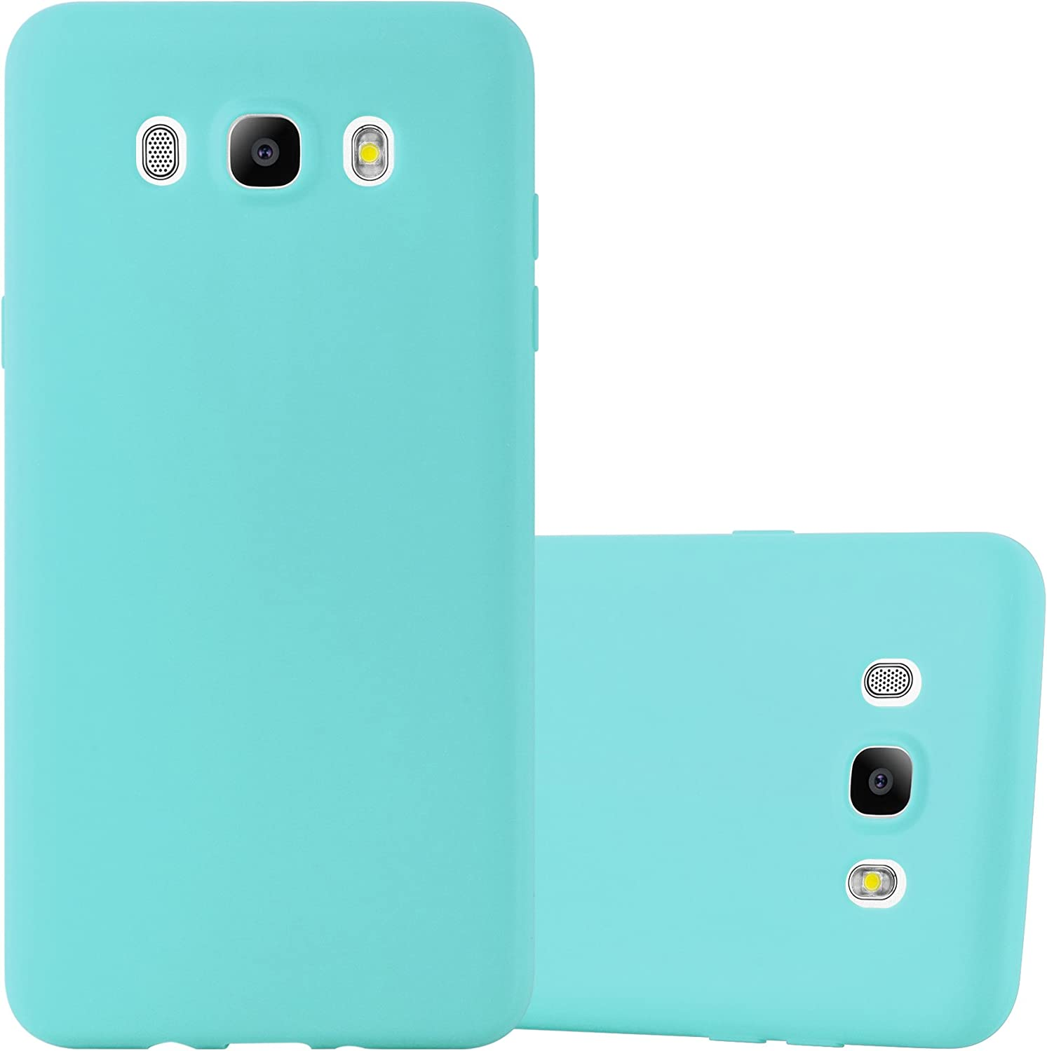 Cadorabo Case Compatible with Samsung Galaxy J5 2016 in Candy Blue - Shockproof and Scratch Resistant TPU Silicone Cover - Ultra Slim Protective Gel Shell Bumper Back Skin