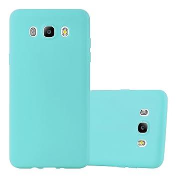 Cadorabo Funda para Samsung Galaxy J5 2016 en Candy Azul – Cubierta Proteccíon de Silicona TPU Delgada e Flexible con Antichoque – Gel Case Cover ...