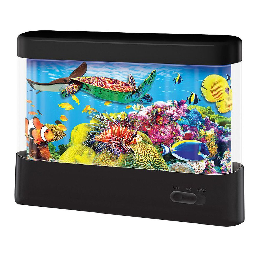 Animated Fish Tank Lamp Kids Bedroom Night Light Home