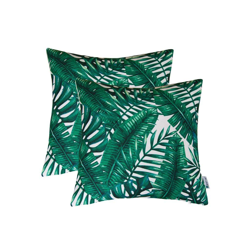 Throw Pillows Cases Romance Tropical Banana Leaves Cushion Covers