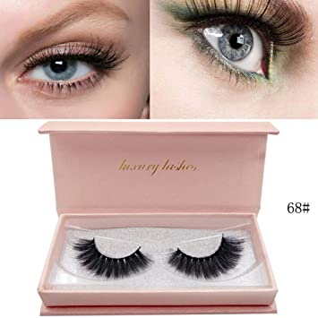 c742493af6a False Eyelashes MMLC Volume Soft Lashes Natural Look 3D Mink Lashes for Makeup  Eyelashes Extension (