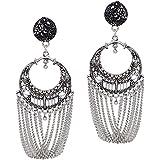 Jaipur Mart Chand Bali for Women (silver)(GSE487SLV)