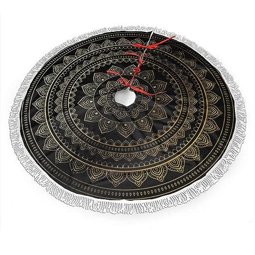 Paoseven - Falda Circular para árbol de Navidad, diseño de Tribu ...